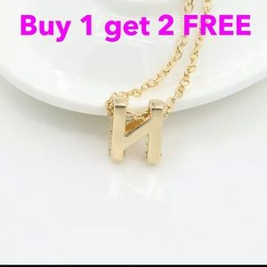 Jewelry - DIY letter initial name letter  N necklace